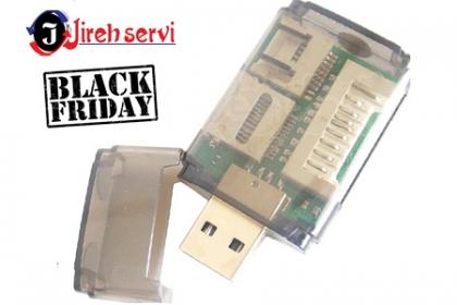 ¡Black Friday! Aprovecha y Paga RD$235 en vez de RD$550 por Adaptador de Memoria USB Multilector  Para Tarjetas De Memoria SD / MMC / MS / MSPro / CF / MD / XD con Conexión USB  en  Jireh Servi.