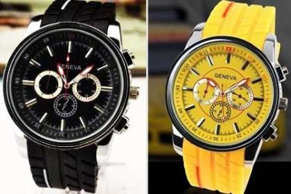 ¡Sorpréndelo! Paga RD$425 en vez de RD$1,090 por Reloj de Hombre Geneva, varios colores a elegir en Brand Accesories.