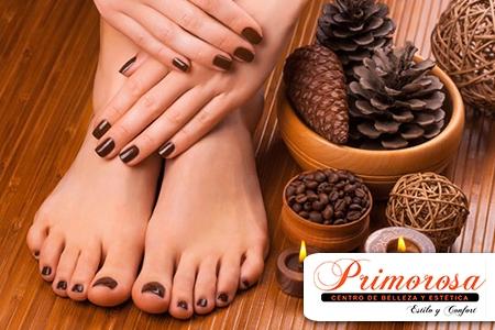 ¡Complementa tu belleza con manos y pies impecables! Paga RD$230 en vez de RD$500  por Manicure + Pedicure Completa en Primorosa Centro de Belleza y Estética.