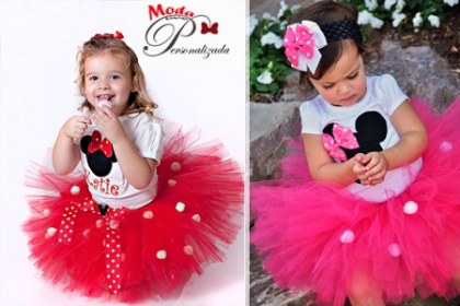 ¡Conjunto para tu Princesa! Paga RD$899 en vez de RD$1,900 por Tutu + Camiseta + Headband + Orejitas, varios moledos y colores a elegir, desde 0 meses hasta 14 años en Moda Personalizada.
