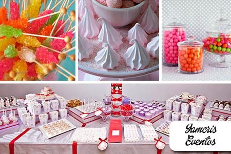 Â¡Dulces espacios para tu fiesta! Paga RD$990 en vez de RD$1,995  por Mesa de dulces de 88 Unidades: 24 Polvorones + 24 Mantecaditos  + 20 Marshmallow Pops + 20 Mini brownies en Yamcris Eventos.