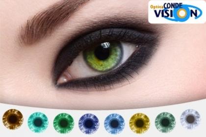¡Cambia el Color de tu Mirada! Paga RD$695 en vez de RD$1,390 por Lentes de Contacto de Larga Duración Tricolor (varios colores disponibles) + Solución de 80 ml en �ptica Conde Visión.