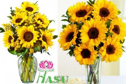 Â¡Sorprendel@! Paga RD$200 en vez de RD$800 por Arreglo Floral de 6 Girasoles + Relleno + Telar + Tarjeta en Flores Hasu.