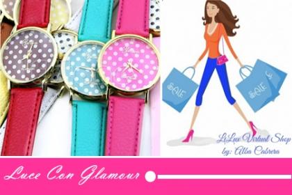 Â¡Luce con Glamour en Navidad! Aprovecha y Paga RD$450 en vez de RD$950 por Reloj Geneva, disponible en varios colores en Lilux Virtual Shop.